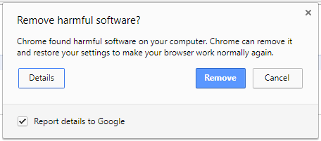 Google includes an antivirus in Chrome for Windows