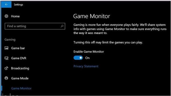 Windows 10 will have its own anti-trap system for games