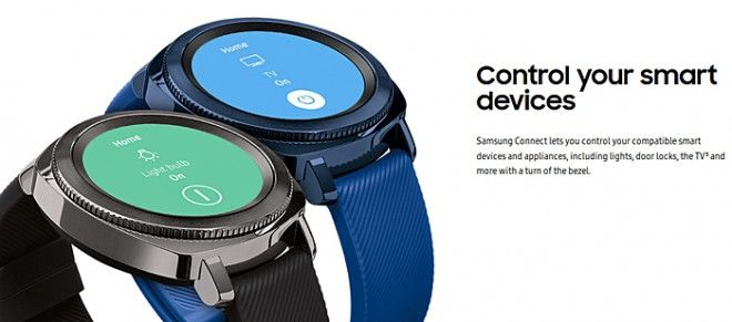 Samsung Gear Sport, the smart home is checked with the ring