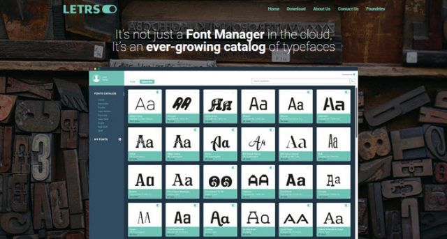 Letrs, to manage and use fonts from the cloud