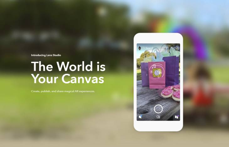 Snapchat launches Lens Studio, to create Augmented Reality experiences