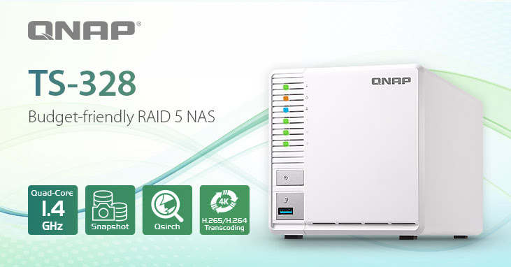 Launched the QNAP NAS TS-328 3-bay RAID 5 to offer the best