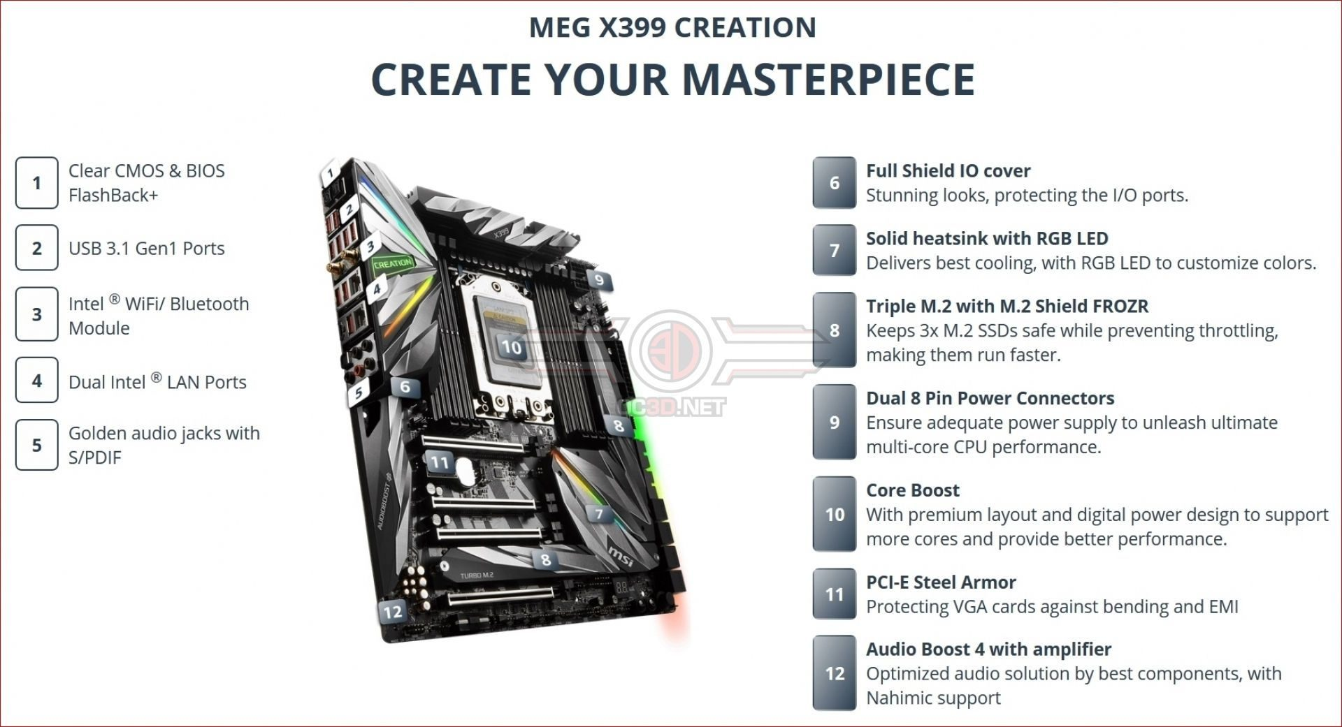 ASUS, Gigabyte and MSI are preparing their X399 boards for the new