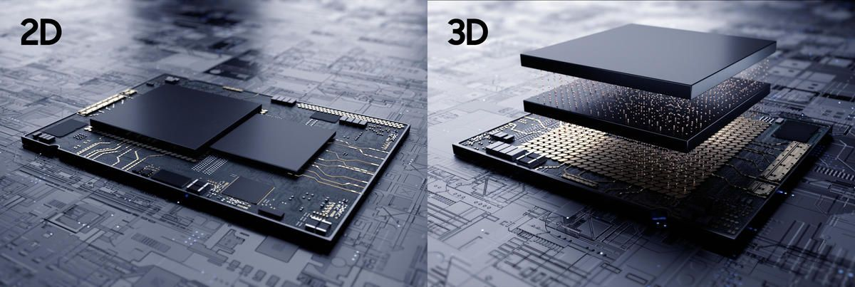 AMD, AMD would implement a 3D packaging design to make it's CPUs more powerful